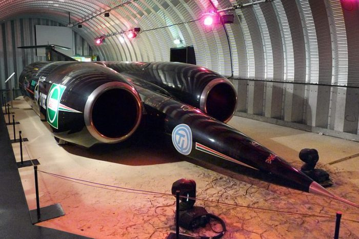 17.	1997: A jet-propelled car sets the first supersonic land speed record, officially breaking the sound barrier in Nevada's Black Rock Desert