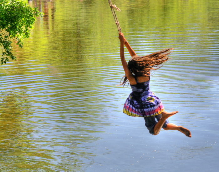 """5. """"Summer dreams (Kids enjoying the swing on the Poudre river)."""""""