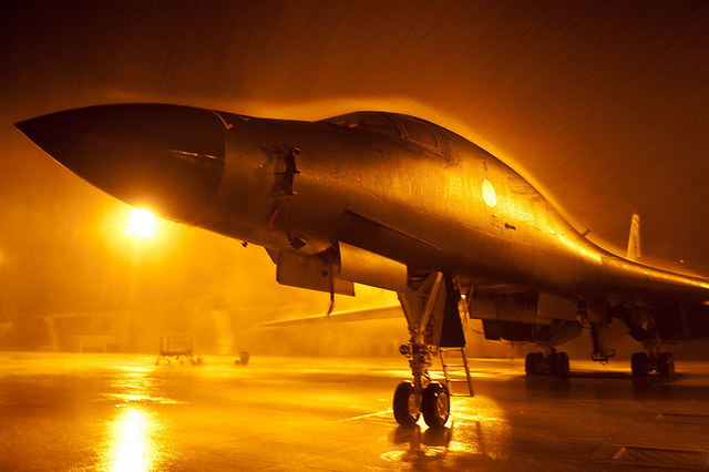 3. Ellsworth air force base at night looks pretty eerie. Enough to feel like it exists in a land far away.