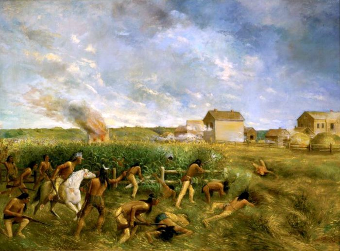 The U.S.-Dakota War had come to a close and Lincoln ordered the hanging of 38 Dakota men in Mankato for participating in the massacres.