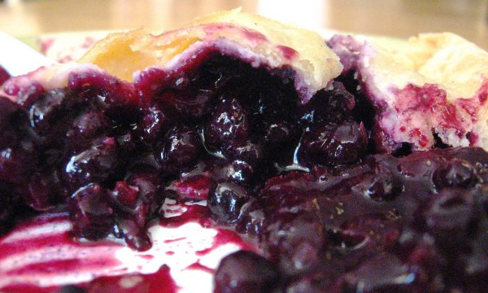 5. A slice of wild blueberry pie