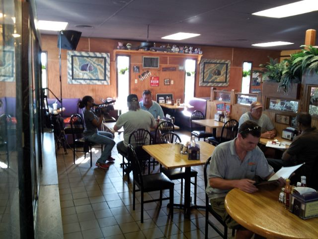 Inside the mart, you could tell the restaurant serves up Louisiana favorites and is a community hang out.