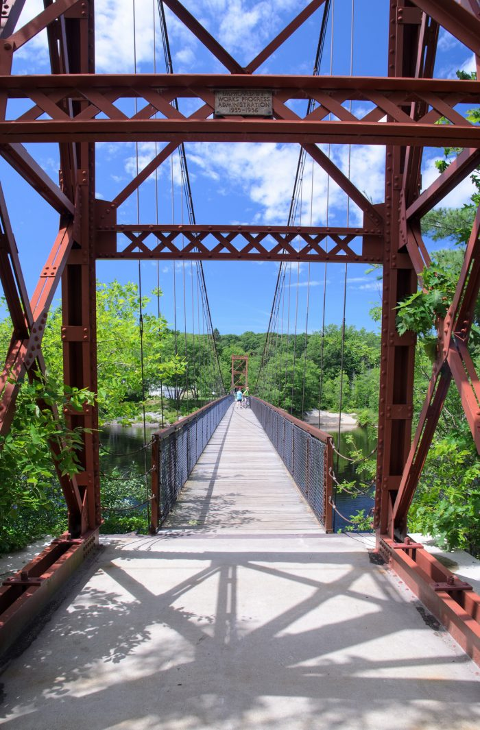 3. The Androscoggin Swinging Bridge, Brunswick / Topsham