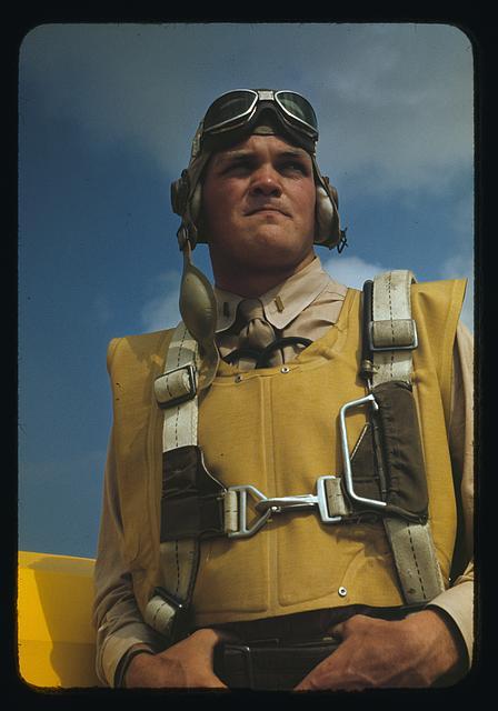 16. Marine lieutenant, glider pilot in training at Page Field, Parris Island, South Carolina.