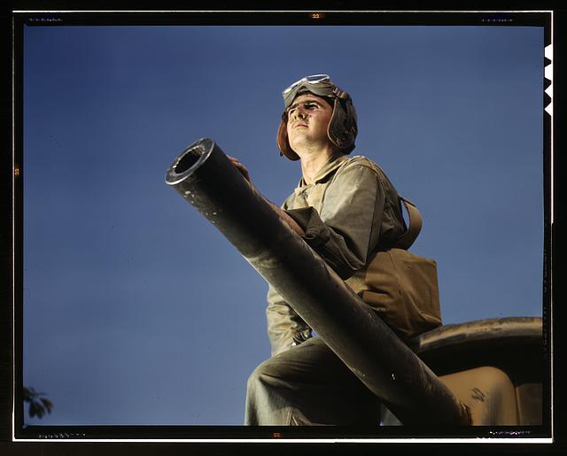 17. Crewman of an M-3 tank, Fort Knox, Kentucky.