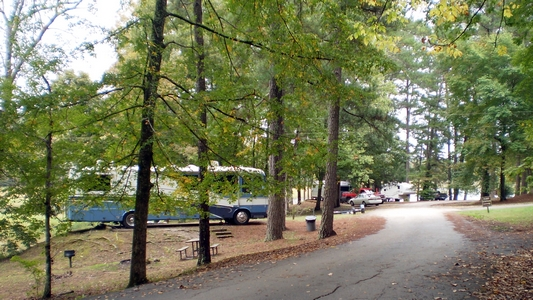 The RV campground is made up of 62 campsites. This campground is located at the edge of Haynes Lake, which means that each campsite has direct access to the lake in addition to picnic tables and grills.