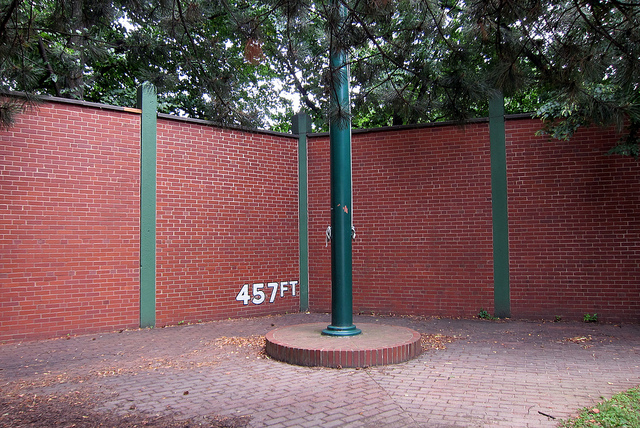 2. Forbes Field Outfield Wall