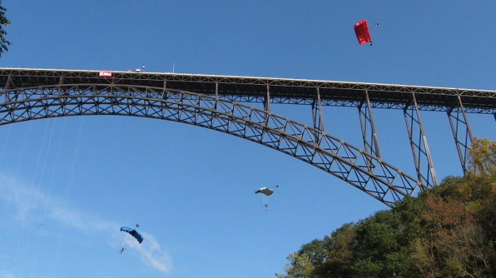 9. You can't actually bungee jump off the bridge on Bridge Day.