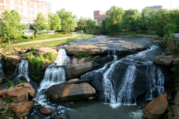 7. Reedy River Falls in Greenville, SC.