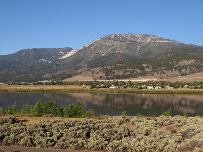5. This beautiful image features Slide Mountain and Mt. Rose as they're overlooking Washoe Valley.