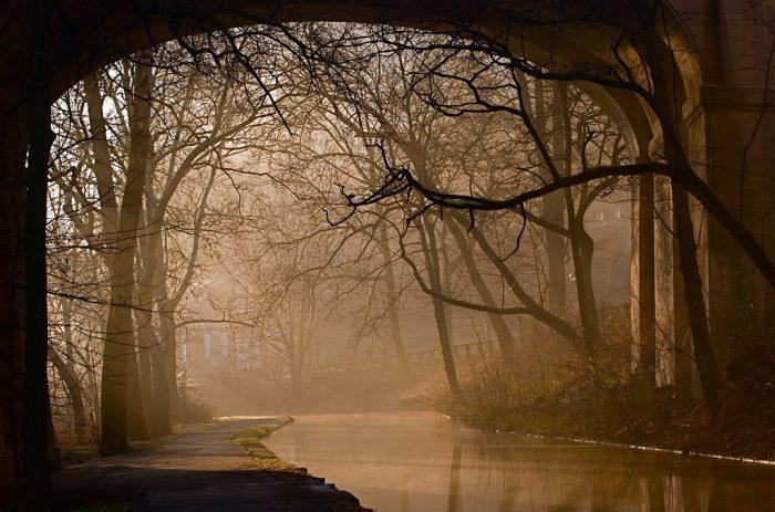 Sometimes, it's a little eerie when the fog rolls in....