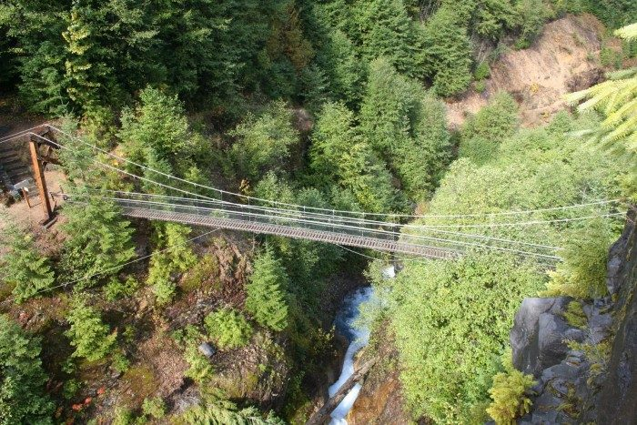 12. Washington:  Lava Canyon Bridge