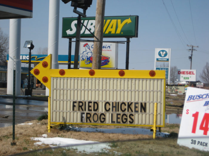 12.Oh how we love the weird gas station food sign...