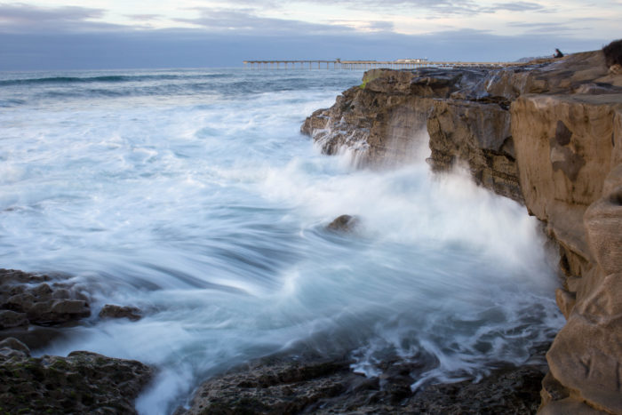 5. Ocean Beach looks more magical than usual as those wispy waves dance along the rocks.