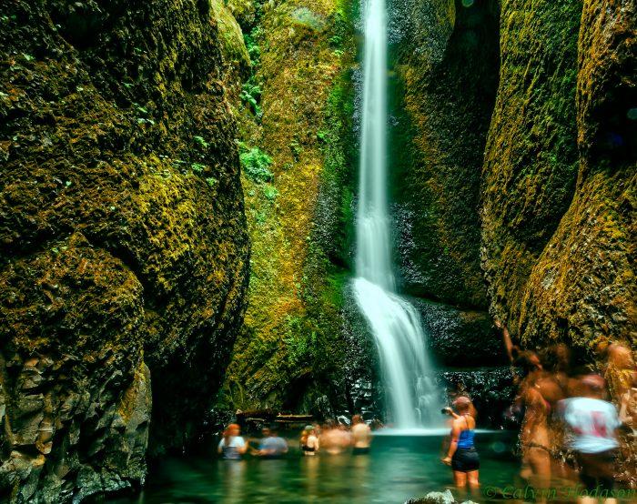 14. Swim in the basin of a waterfall.