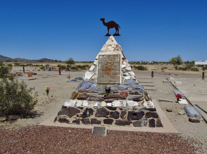 7. If you're in Quartzsite, be sure to stop by Hi Jolly's monument to pay respects to the who attempted to introduce camels to Arizona's deserts.
