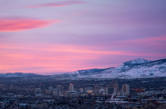 9. This overlook in Reno creates such a spectacular view of the city.