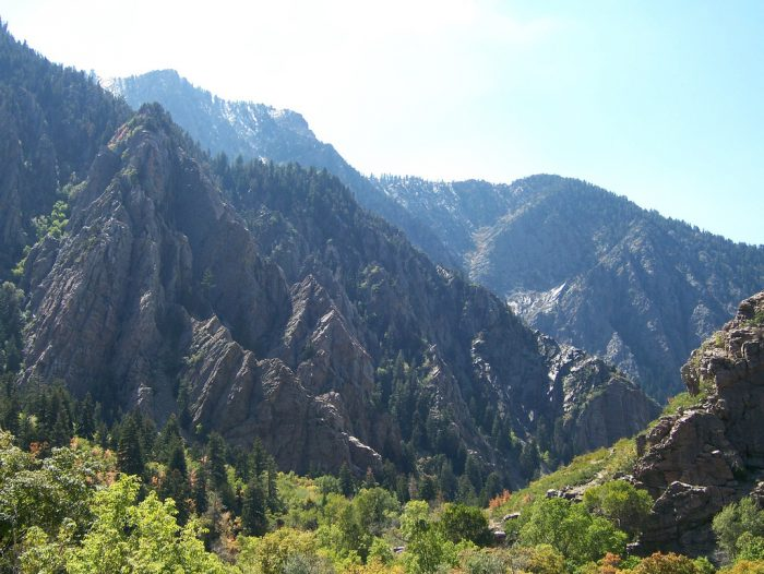 1. The Wasatch Mountains are really close.