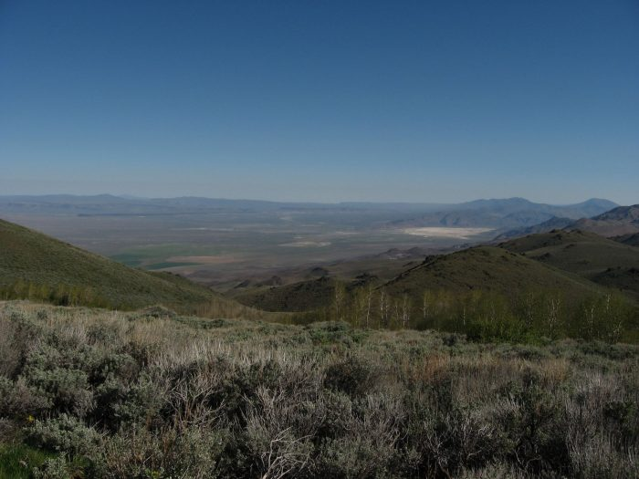 3. The Pine Forest Range is overlooking northwest Nevada's Bog Hot Valley.