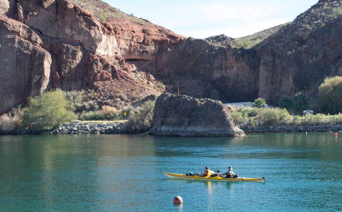 4. There's, of course, also the Colorado River and its numerous activity possibilities: boating, rafting, kayaking, fishing, swimming, and tubing.