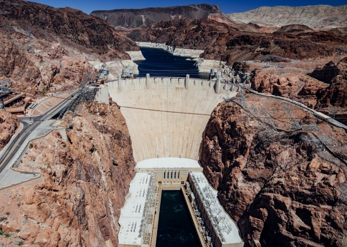4. This overlook creates such an incredible view of Hoover Dam.