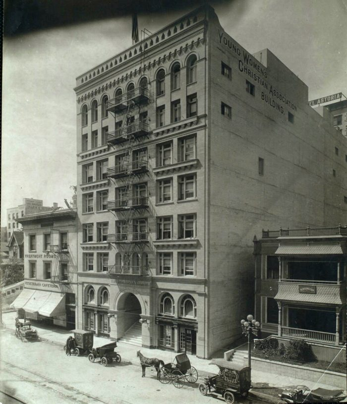 4. A rare look at the YWCA in Los Angeles on Hill Street in the early 1900s.