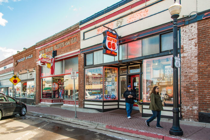 10. Check out the shops, restaurants, and other businesses located along Route 66.