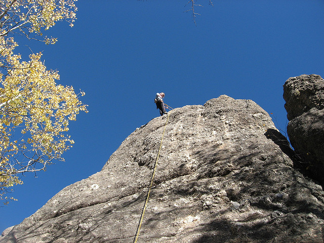 6. Go rock climbing.