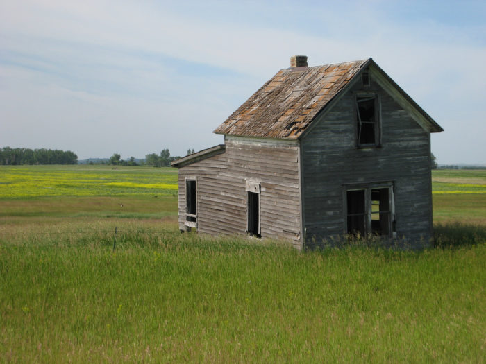 2. An empty shell of a house in the middle of nowhere, the perfect hideout for something dark and mysterious.