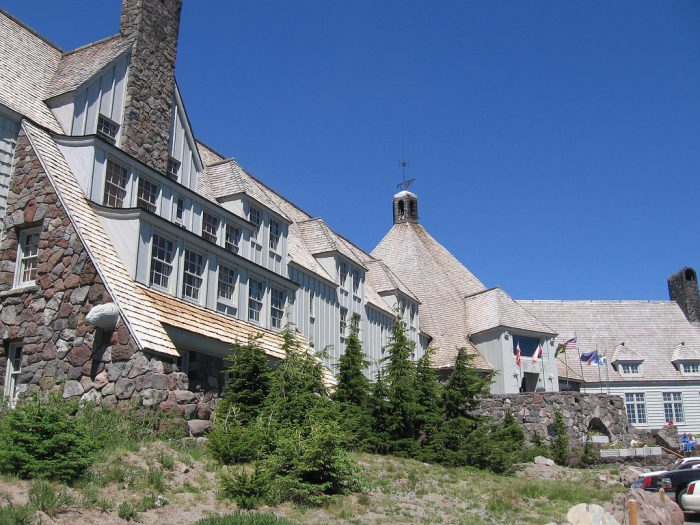 4. Experience Mt Hood at Timberline Lodge.