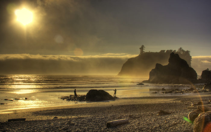 9. A warm evening at Ruby Beach in July.