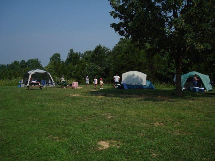camping spring mill