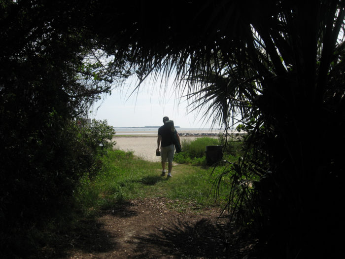 "16. ""Ah...the light at the end of the tunnel at Fish Haul Creek Park: the beach!"""