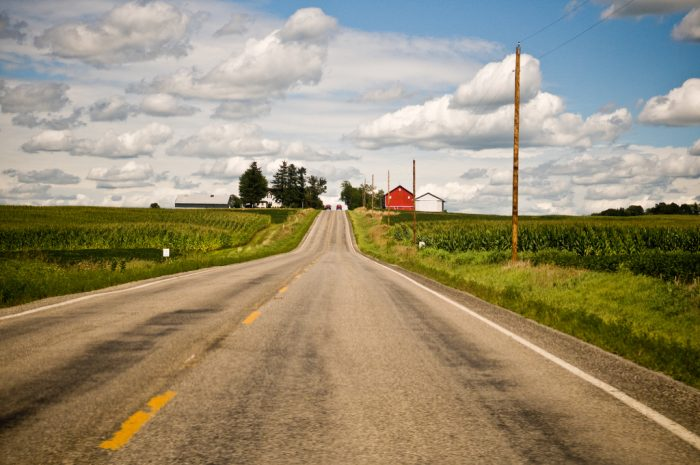 2. When you need to clear your head or just want to go for a drive, the back roads are perfect for just that.