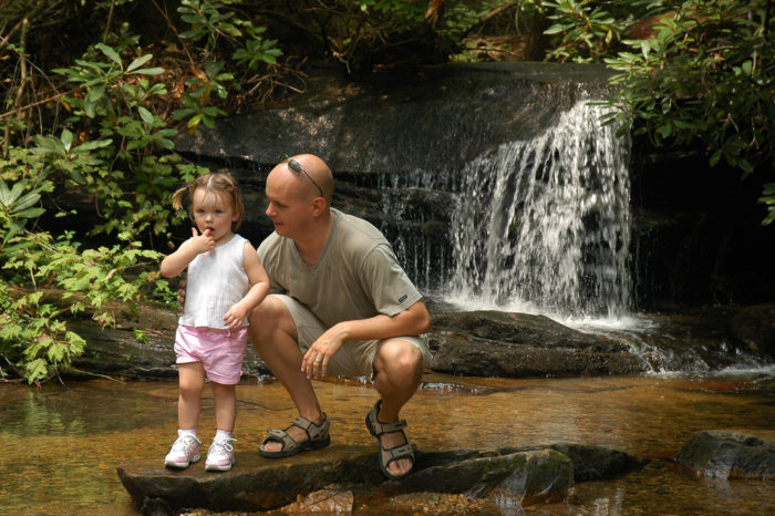 15. A little hike with a little tyke at Table Rock State Park.