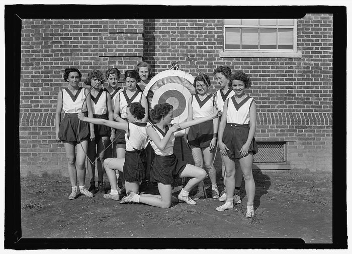6. An archery group at Montgomery Blair High School in Silver Spring, Maryland.