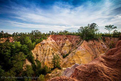 No matter how it was formed, one thing's for sure – Red Bluff provides some spectacular views.