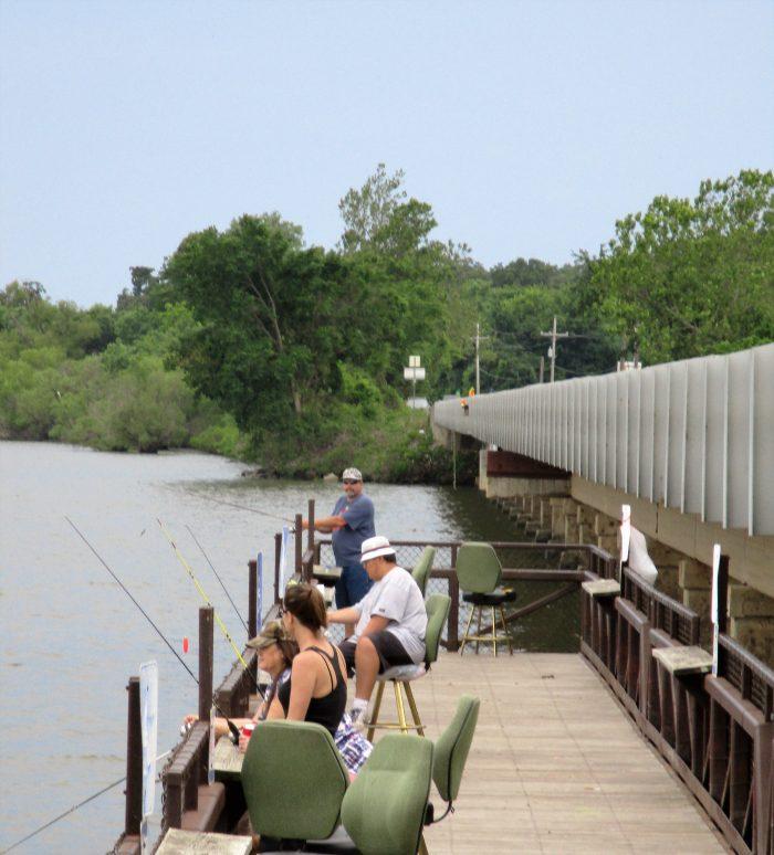 3. The excellent fishing at Bernice Bridge.