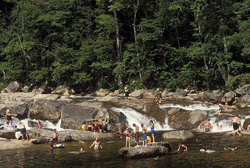 7. Having a great swimming hole like this an easy drive from your house.