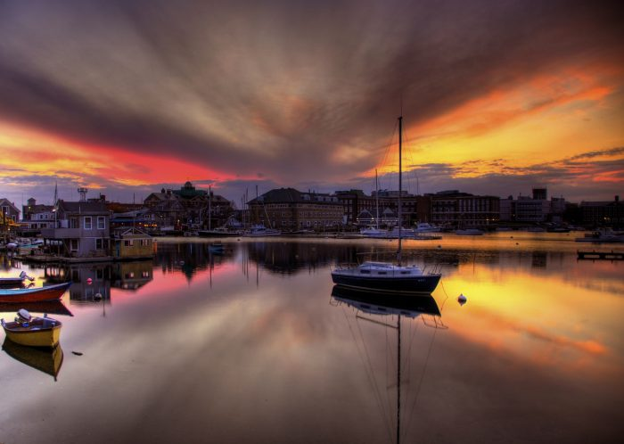 13. A sunset at Eel Pond in Woods Hole can be a truly ethereal experience.
