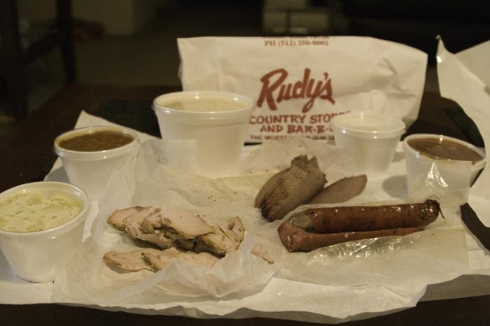 7. Take a week, and stop by all of the best BBQ joints in Austin - Rudy's, County Line, Franklin's, Sam's, The Salt Lick.