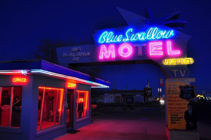 18. You can still stay at this retro motor court if you pause in this town for a night.