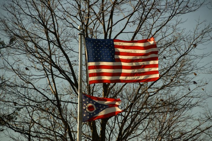 1. Our state flag has the same colors as the American flag.