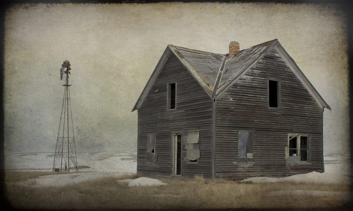 8. The windows of this house were obviously once boarded up but have since been torn up - talk about creepy!