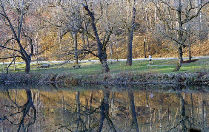 Take a relaxing stroll along the creek...