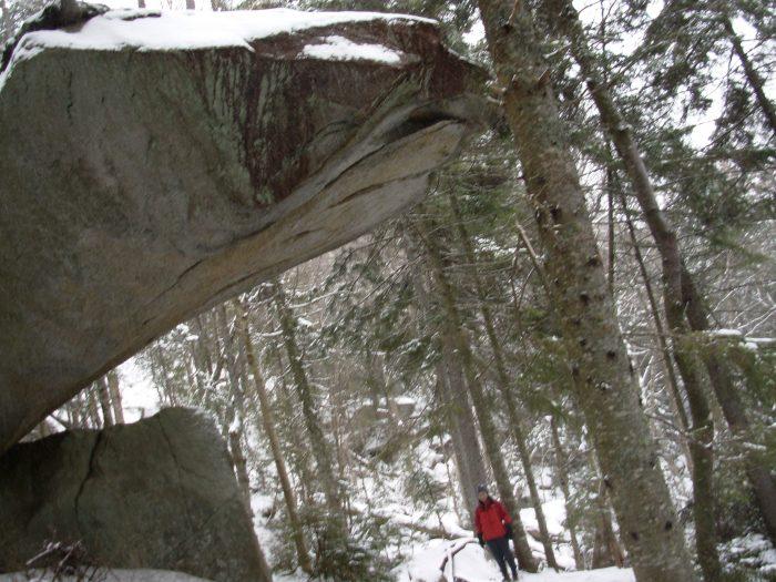 2. Precarious Piazza Rock, Near Rangeley
