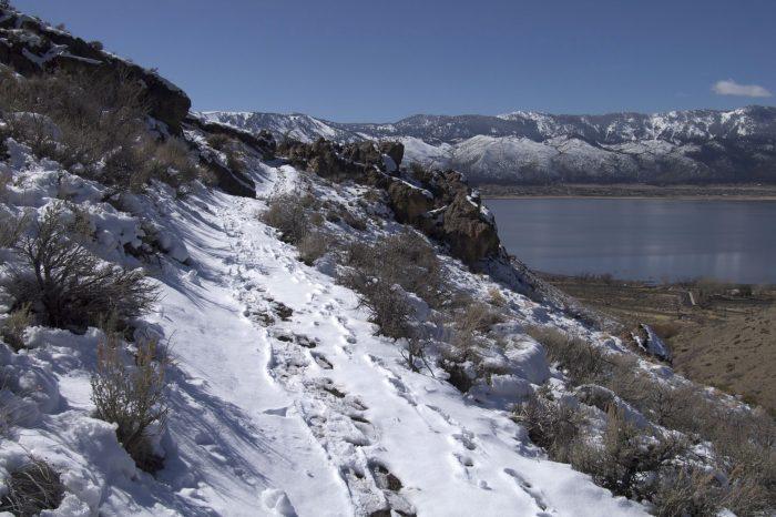 2. Deadman's Creek Trail is overlooking Washoe Lake.