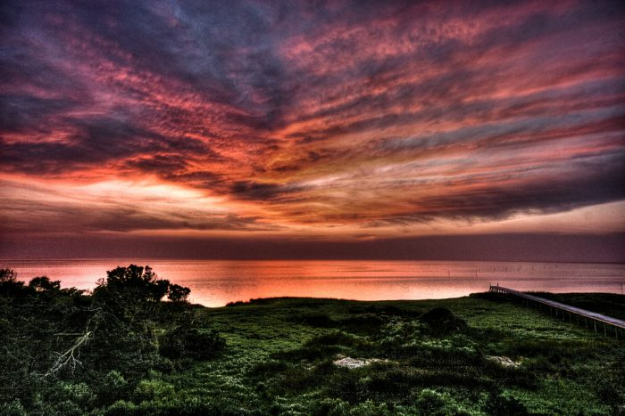 3. So many luscious colors in this Cape Hatteras sunset over the sound. This has me planning a getaway!