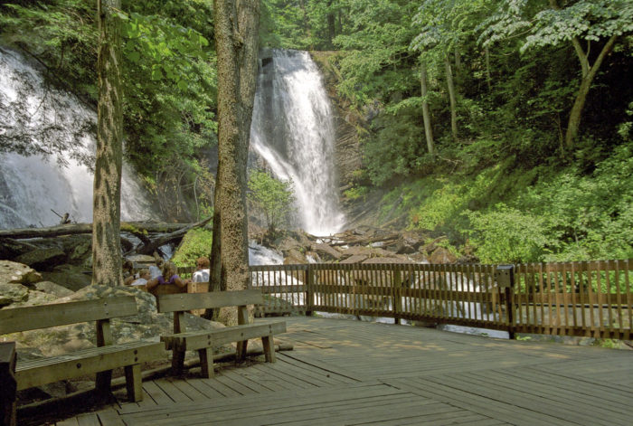 2. Anna Ruby Falls Observation Deck