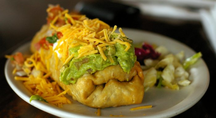 7. Eat a delicious chimi at one of its alleged birthplaces: El Charro in Tucson or Macayo's in Phoenix.